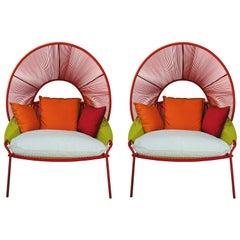 Stephen Burks Design Pair of Outdoor Lounger Armchairs European Edition