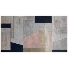 "Stephen Cimini ""Onyx Meets Selenite"" Oil on Canvas Artwork"