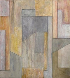 "39""x35""x2"" Contemporary oil painting - Impulse"