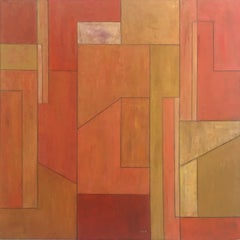 "39x39x2"" Contemporary oil painting - Citrus"