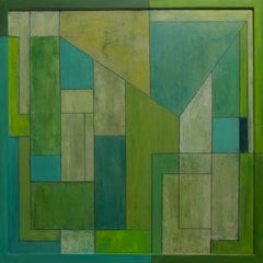 Abstract oil painting - Green - Verdigris