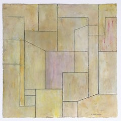 Abstract oil painting on Arches Oil Painting on Paper, Deckled edges - Neutral 6