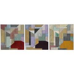 Stephen Cimini past Present Future Oil on Canvas Paintings