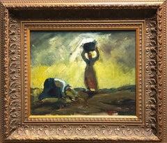 """Harvest"" Working Women Hungarian European Modernism Expressionism 1926"