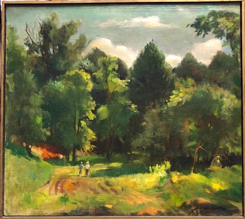 Landscape American Hungarian European Modernism 1938 Realism Long Island WPA era
