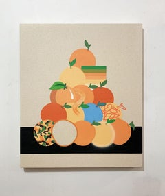 Still life with Stacked Oranges