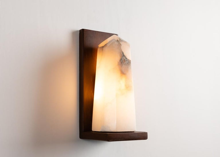 Stephen Downes, Contemporary Alabaster Sconce, United States, 2016 In Excellent Condition For Sale In New York, NY