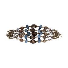 Stephen Dweck 5 Strand Multi-Gem Bracelet