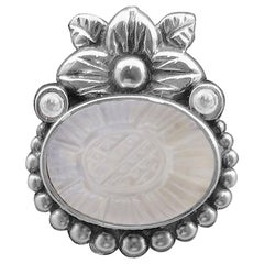 Stephen Dweck Black Coral Smooth Pendant In Sterling Silver