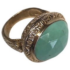 Stephen Dweck Faceted Turquoise Cabochon Ring