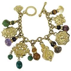Stephen Dweck OOAK Sterling Silver Charm Bracelet Never worn w/ Tags 1990s