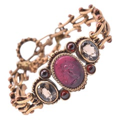 Stephen Dweck Sterling Silver Crystal and Gemstone Bracelet