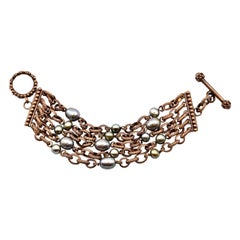 Stephen Dweck Sterling Silver Multi-Strand Pearl Bracelet