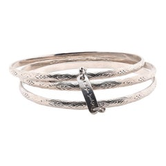 Stephen Dweck Sterling Silver Triple Bangle Bracelet