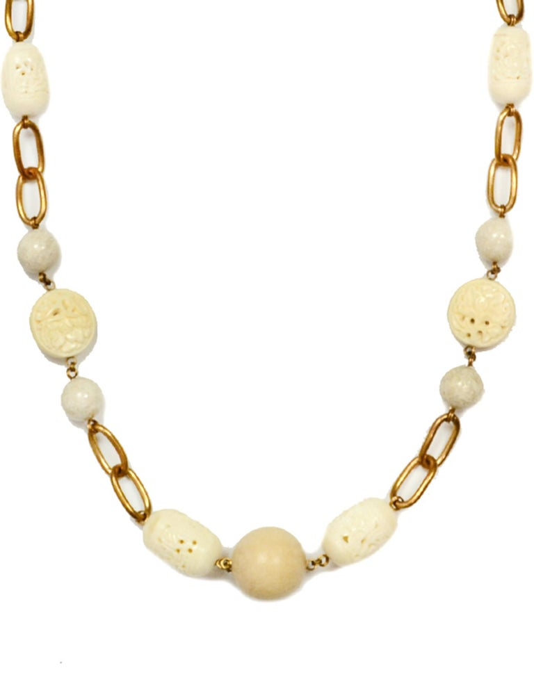 Stephen Dweck White Agate and Wood Chain Link 37