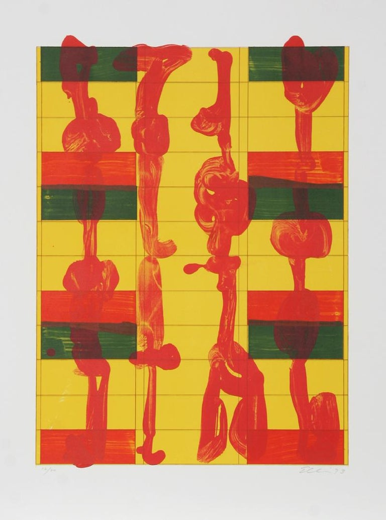 Artist:Stephen Ellis, American (1951 - ) Title: Untitled Year:1993 Medium: Serigraph, signed and numbered in pencil Edition: 12/20 Paper Size: 34 x 26 inches