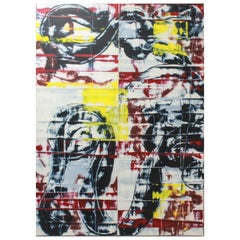 "Stephen Ellis ""SE-E-95"" Modern Abstract Oversized Oil & Alkyd Painting"
