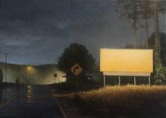 "Photorealist night landscape, ""Mountain Highway"""