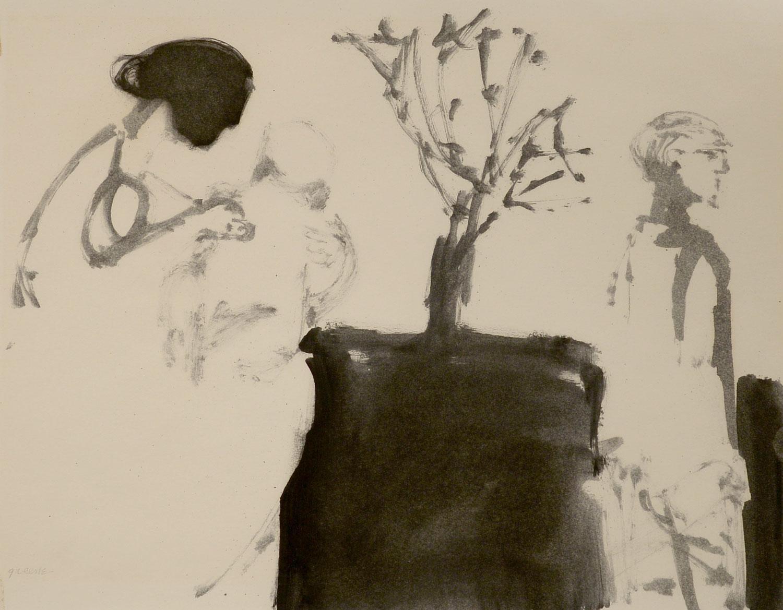 """""""Family Life,"""" Stephen Greene, 1961 oil on paper"""