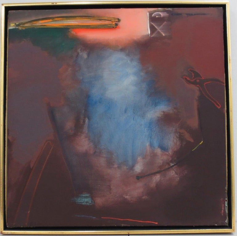 "Stephen Greene ""Fermata #9"" Original Abstract Oil on Canvas c.1977 - Art by Stephen Greene"