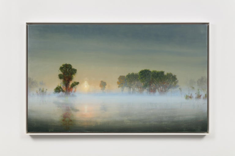 Flooded River at Dawn (Mass MoCA #245) - Painting by Stephen Hannock