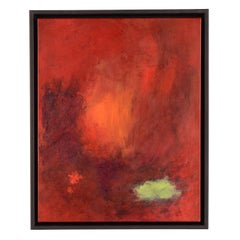 Fire Light Red Abstract Painting