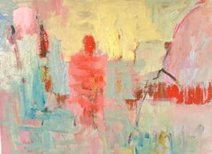 Ghost Study No. 2 / oil on canvas - vibrant, bold warm abstract figurative work