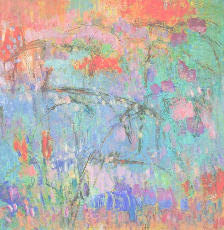 Japanese Wisteria / oil on canvas