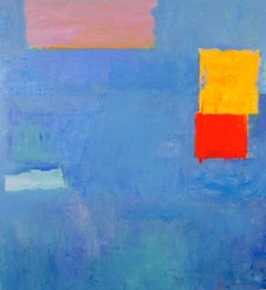 Kind of Blue / abstract geometric oil on canvas