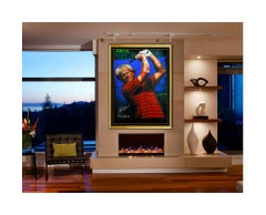 Stephen Holland Original Jack Nicklaus Golf Signed Embellished Giclee On Canvas