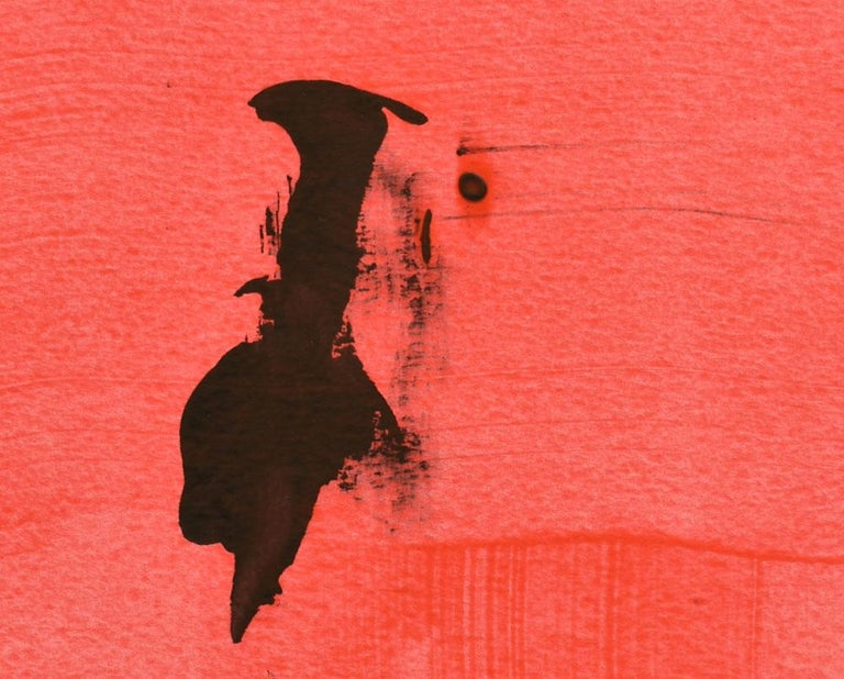 Frankly Scarlet 47 (Abstract painting) - Red Abstract Drawing by Stephen Maine