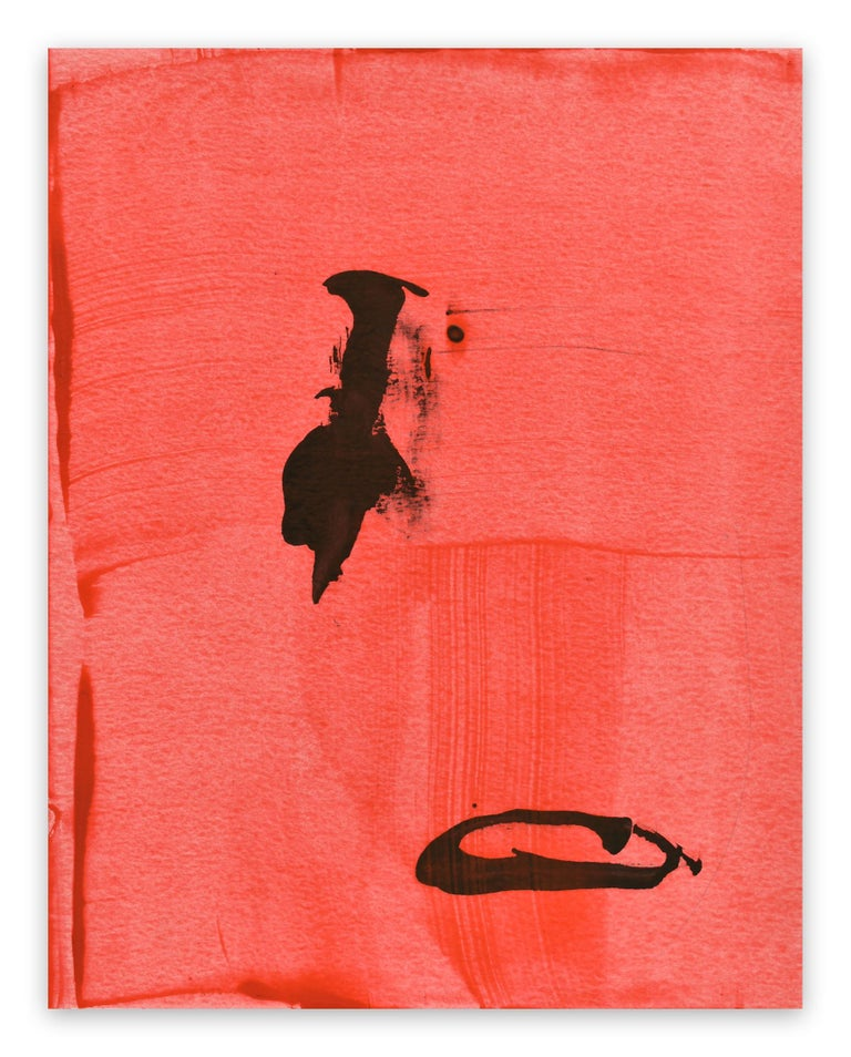Stephen Maine Abstract Drawing - Frankly Scarlet 47 (Abstract painting)
