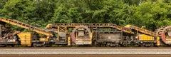 "Freight Train Contemporary Photograph, ""Undercutter"" 20""x60"" C-Print"