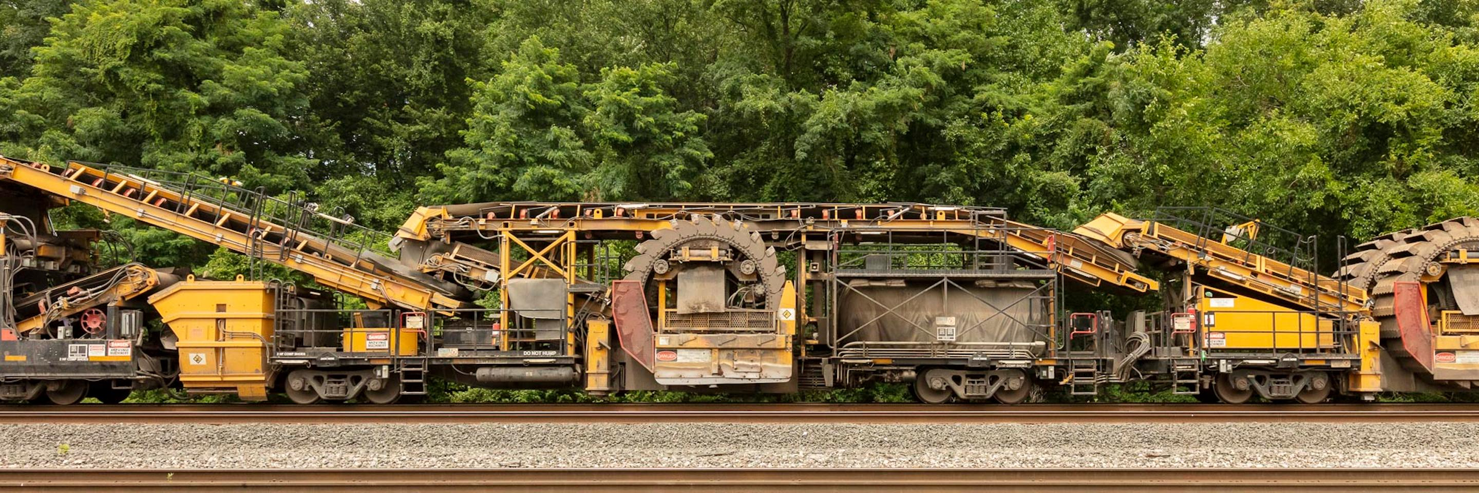 """Freight Train Contemporary Photograph, """"Undercutter"""" Limited Edition C-Print"""