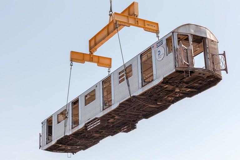 "Stephen Mallon Landscape Photograph - ""Mind the Gap"" Subway Reefing Photograph"