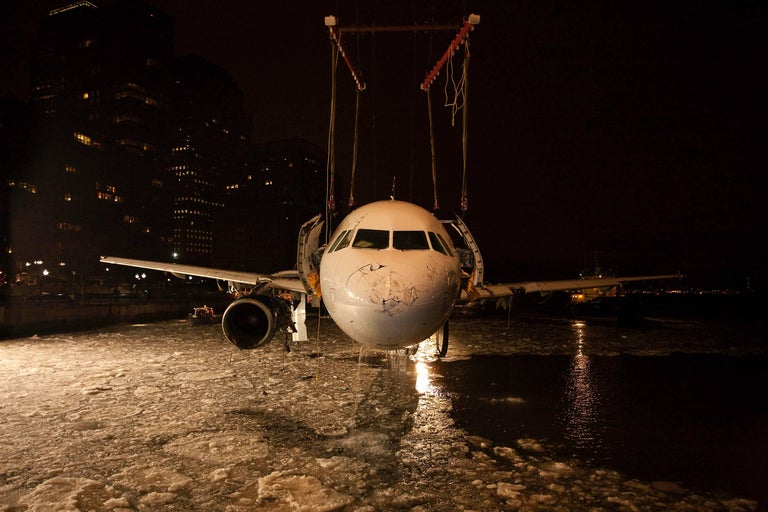 """Stephen Mallon Color Photograph - Miracle on the Hudson Flight 1549, Hudson River, NY """"She's Looking at You"""" Photo"""
