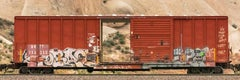 """Passing Freight -Contemporary color photograph """"BKTY 15325"""" freight train series"""