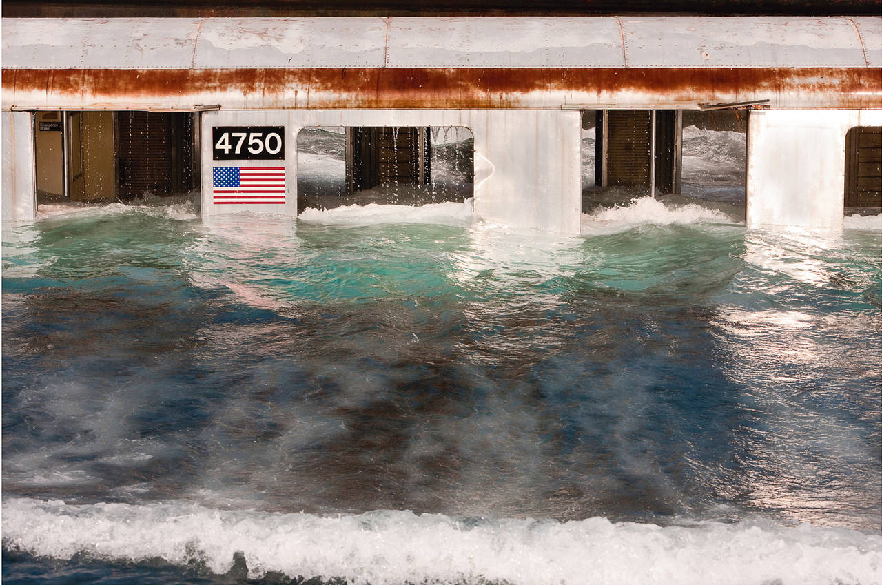 """""""Pool"""" Large Scale Framed Photograph, Reefing of NYC Subway: American Landscape"""