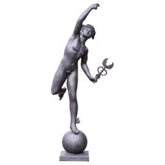 Stephen Markham Contemporary English Lead Hermes/ Mercury Statue