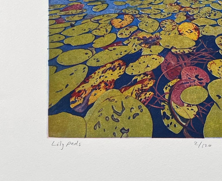 Lily Pads - Brown Landscape Print by Stephen McMillan