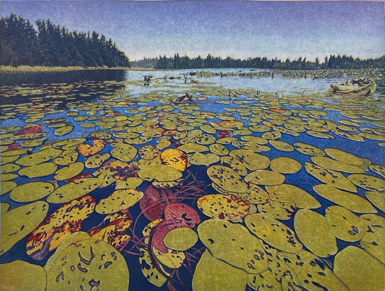 Stephen McMillan Landscape Print - Lily Pads