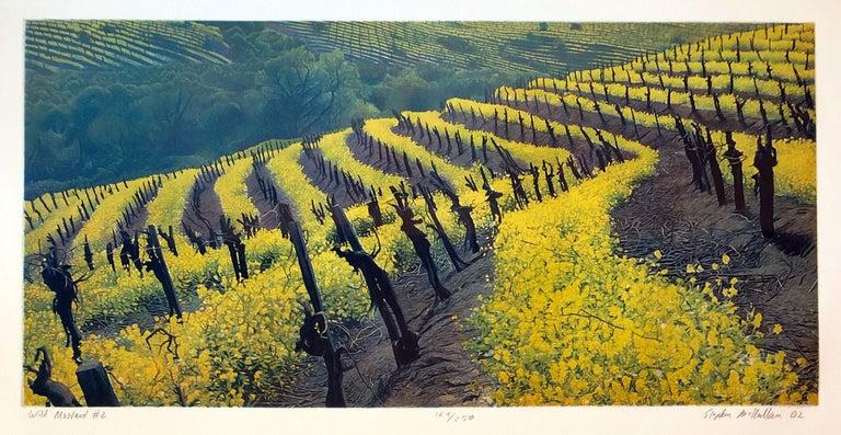 Stephen McMillan Landscape Print - Wild Mustard