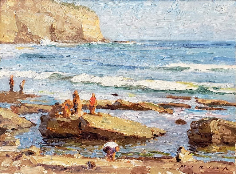 A Saturday Afternoon at the Tide Pools - Painting by Stephen Mirich