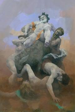Crumbling Pyramid, Painting, Acrylic on MDF Panel