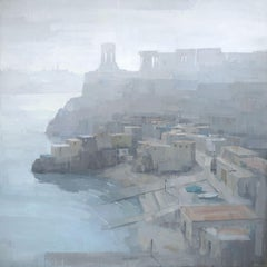 Morning Haze, Valletta, Painting, Acrylic on Canvas