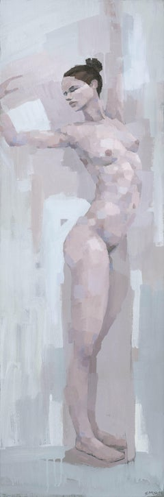 Standing Female Nude, Painting, Acrylic on Canvas