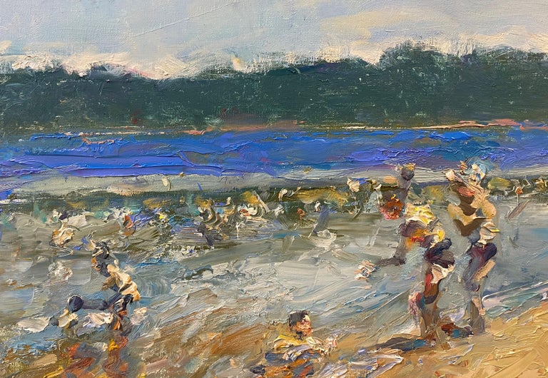 Swimming at Lincoln Woods - American Impressionist Painting by Stephen Motyka
