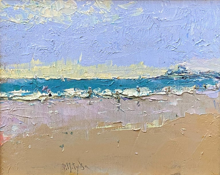 The Beach at Watch Hill - Painting by Stephen Motyka