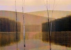 """Stephen Pentak """"2019, VII.I"""" Landscape Oil Painting on Panel"""