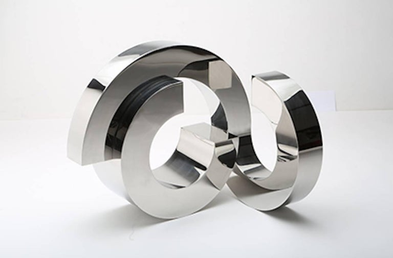 Stephen Porter Abstract Sculpture - Circle 64 - Stainless Steel - 23 x 27 x 28 in.